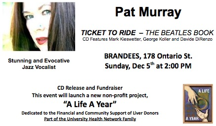 Pat Murray - Live at Brandees Sunday December 5 at 2pm