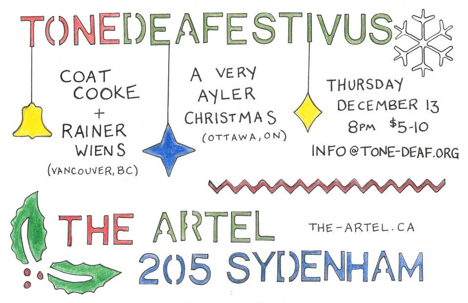 Tone Deafestivus: Coate Cooke + Reiner Weins / A Very Ayler Christmas