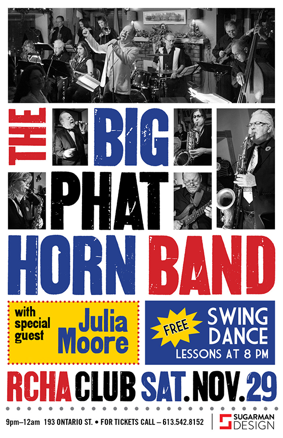 Big Phat Horn Band Nov 29 at the RCHA