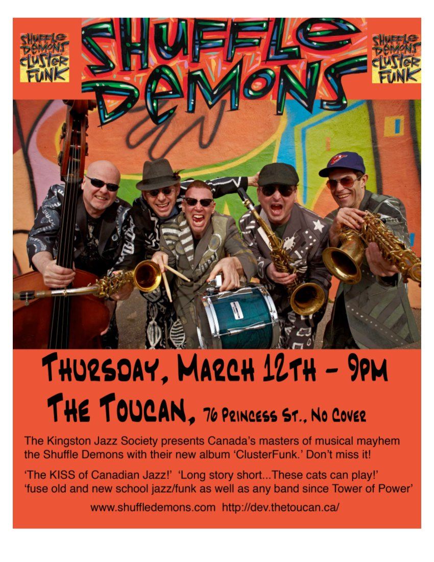 The Shuffle Demons March 12 at The Toucan