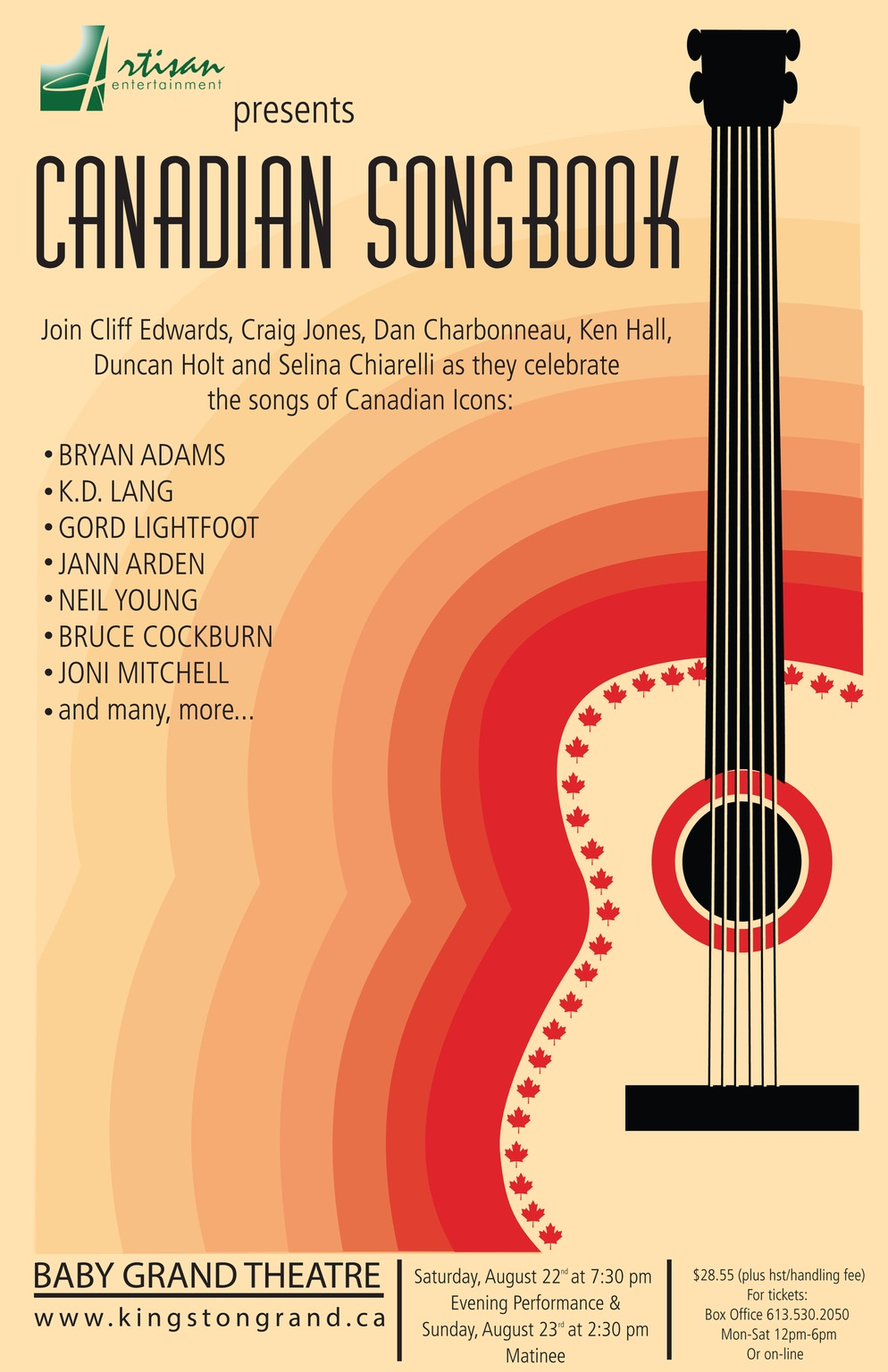 Canadian Songbook - Aug 22 and 23 at the Baby Grand!