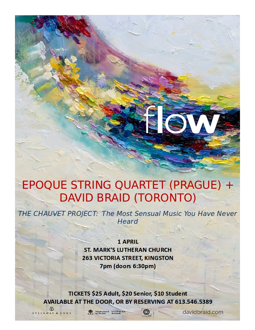 Apr 1: David Braid and Prague's Epoque String Quartet