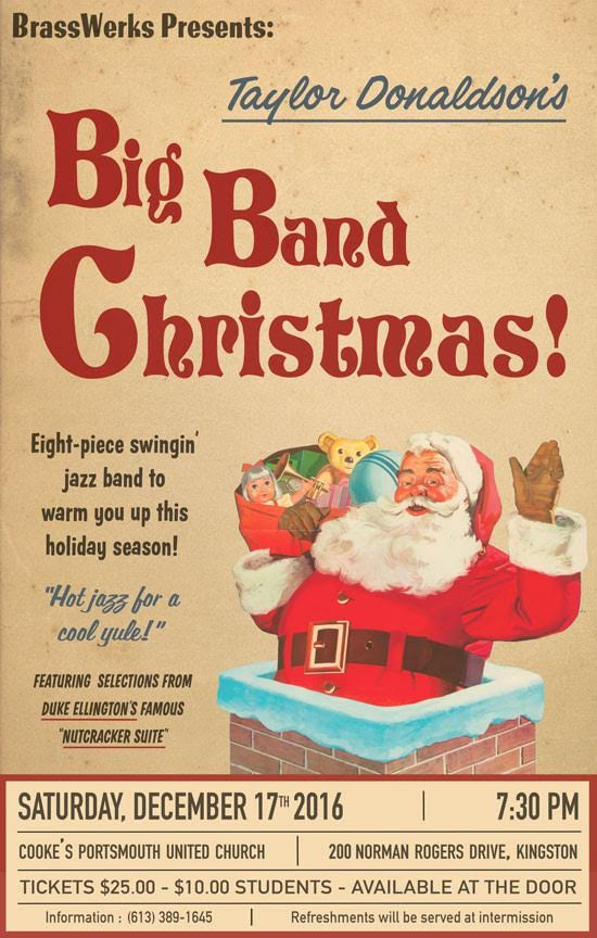 Dec.17: Taylor Donaldson's Big Band Christmas @ Cooke's Portsmouth United Church